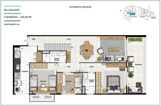 Planta 05 - 4 dorm 204 89m² - cobertura