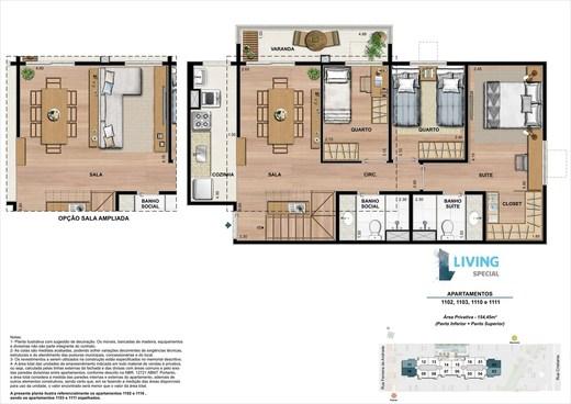 Planta 04 - 3 dorm 154 45m² - cobertura