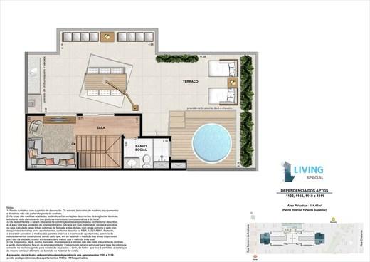 Planta 05 - 3 dorm 154 45m² - cobertura