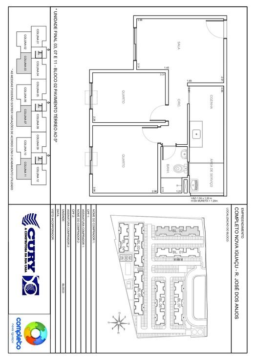 Planta 03 - 2 dorm 45 56m²
