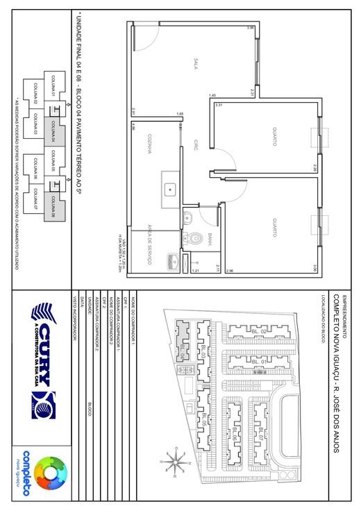 Planta 04 - 2 dorm 45 87m²