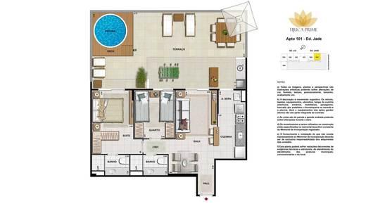 Planta 05 - 2 dorm 106m² - garden