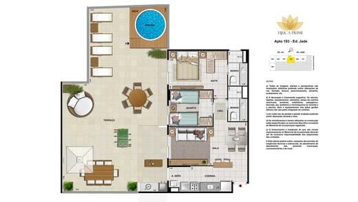 Planta 07 - 2 dorm 122m² - garden