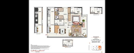 Planta 05 - 2 dorm 125 76m² - cobertura