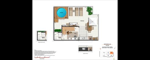 Planta 06 - 2 dorm 125 76m² - cobertura