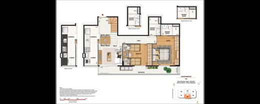 Planta 07 - 3 dorm 133 22m² - cobertura