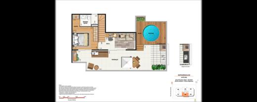 Planta 08 - 3 dorm 133 22m² - cobertura
