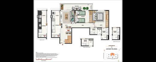 Planta 09 - 2 dorm 134 12m² - cobertura