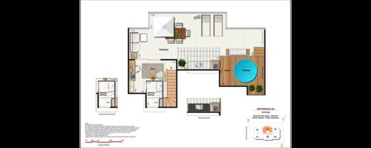 Planta 10 - 2 dorm 134 12m² - cobertura
