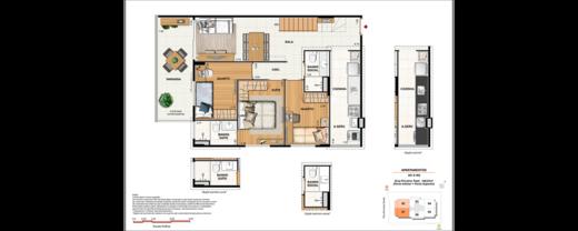 Planta 11 - 4 dorm 148 81m² - cobertura
