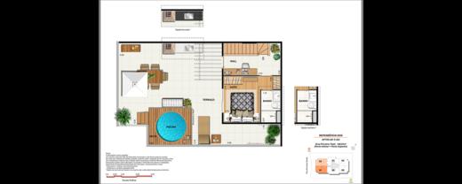 Planta 12 - 4 dorm 148 81m² - cobertura