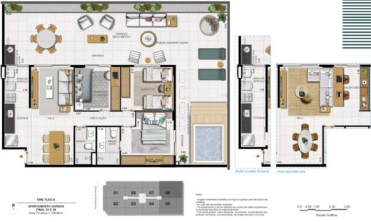 Planta 07 - 3 dorm 138 80m² - garden