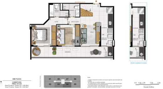 Planta 09 - 3 dorm 149 28m² - duplex inferior