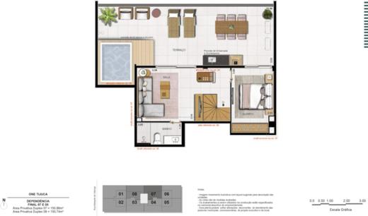 Planta 12 - 3 dorm 150 74m² - duplex superior