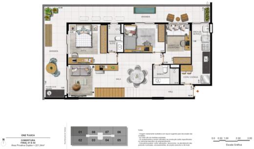 Planta 13 - 4 dorm 221 34m² - duplex inferior
