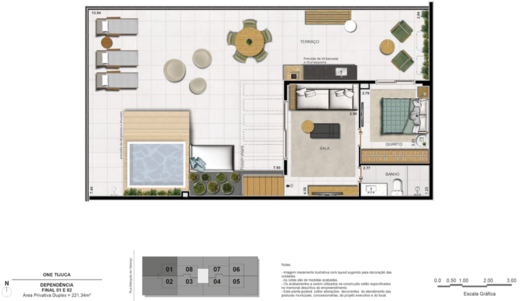 Planta 14 - 4 dorm 221 34m² - duplex superior