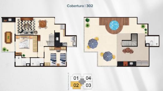 Planta 06 - 2 dorm 130 13m² - cobertura duplex