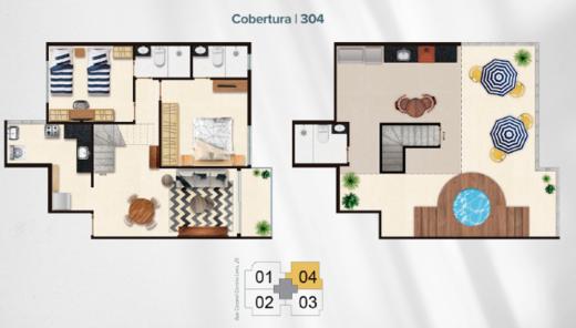 Planta 07 - 2 dorm 141 73m² - cobertura duplex