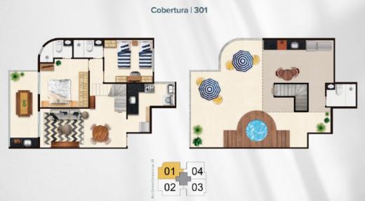 Planta 08 - 2 dorm 141 73m² - cobertura duplex