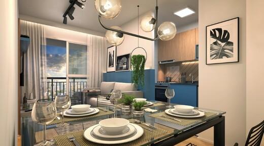 Living - Apartamento à venda Rua Carvalho de Freitas,Vila Andrade, São Paulo - R$ 363.400 - II-18352-30546 - 5