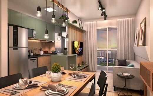 Living - Apartamento à venda Rua Carvalho de Freitas,Vila Andrade, São Paulo - R$ 363.400 - II-18352-30546 - 6
