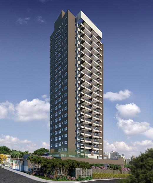 Fachada - Apartamento à venda Rua Celso Ramos,Morumbi, São Paulo - R$ 587.600 - II-18406-30634 - 1