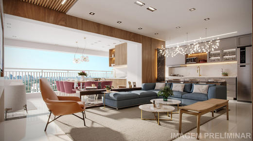 Living - Apartamento à venda Rua Vergueiro,Ipiranga, São Paulo - R$ 1.314.000 - II-18501-30819 - 4