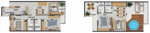 Planta 07 - 3 dorm 138 21m² - cobertura duplex