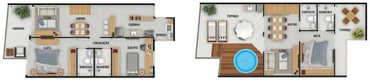 Planta 09 - 3 dorm 148 49m² - cobertura duplex
