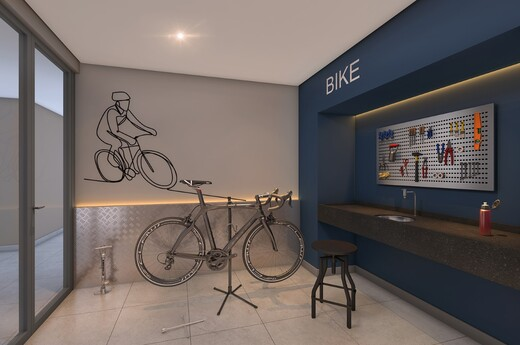 Bicicletario - Fachada - Estilo Chácara Santo Antônio Residence - 1004 - 15