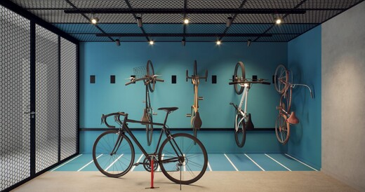 Bicicletario - Studio à venda Rua João de Sousa Dias,Campo Belo, Zona Sul,São Paulo - R$ 384.001 - II-19295-32158 - 9