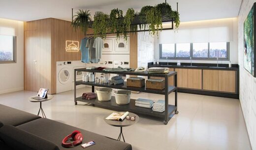 Lavanderia - Fachada - ID Home & Lifestyle Paraíso - Studios Residenciais - 1081 - 9