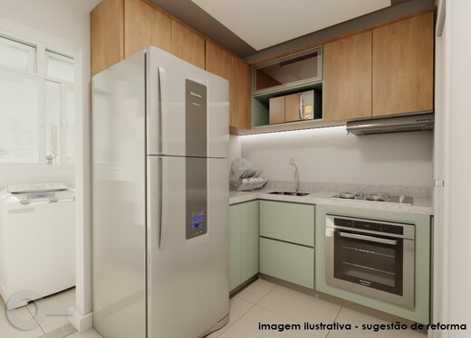Cozinha - Apartamento 2 quartos à venda Lagoa, Rio de Janeiro - R$ 1.240.000 - II-19791-32935 - 5