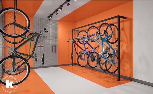 Bicicletario - Fachada - Kronos Vila Madalena by Kallas Arkhes - Breve Lançamento - 1132 - 12