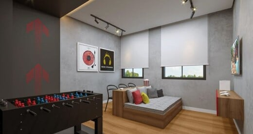 Sala de jogos - Fachada - Go Barra Funda - Residencial - Breve Lançamento - 1153 - 6