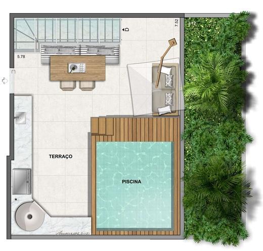 Planta 14 - 2 dorm 120 34m² - cobertura duplex - superior