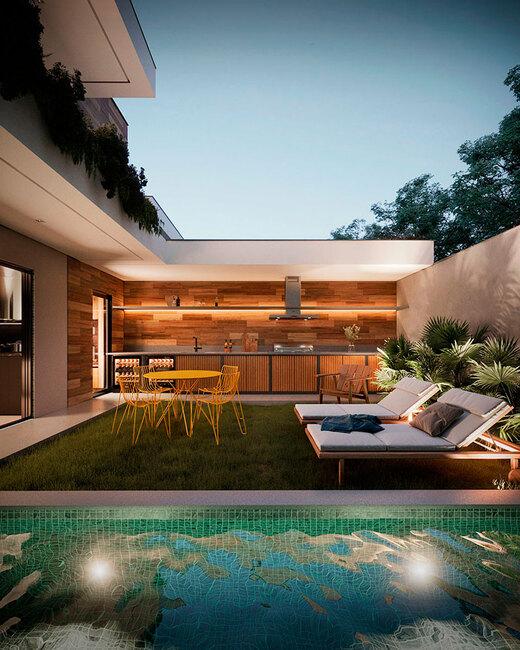 Piscina privativa - Fachada - Essenza Design Houses - 147 - 9