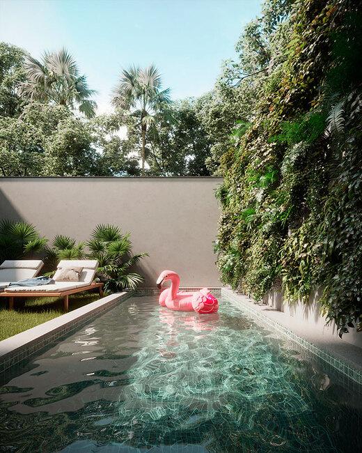 Piscina privativa - Fachada - Essenza Design Houses - 147 - 10