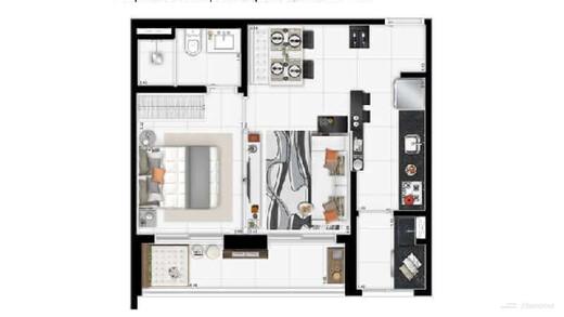 Apartamento à venda Rua Doutor Rubens Meireles,Várzea da Barra Funda, Zona Oeste,São Paulo - R$ 516.705 - II-22682-37526 - 4