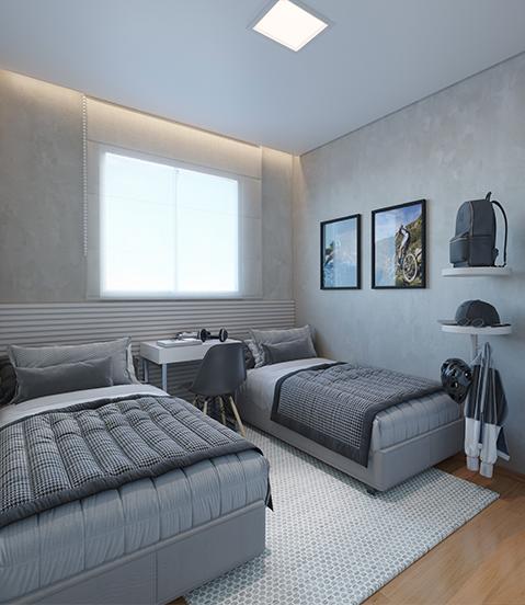 Dormitorio - Fachada - Novolar Vargem Grande - Fase 2 - 1765 - 13