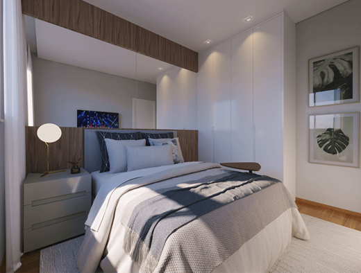 Dormitorio - Fachada - Novolar Vargem Grande - Fase 2 - 1765 - 9